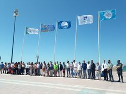 Bandera de calidad playa La Barrosa