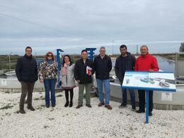 Un momento de la visita del alcalde de Castelllar al proyecto All-Gas.