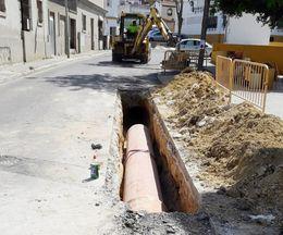 Obras en la calle Goytisolo