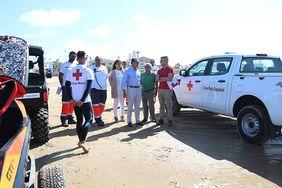 Operativo de Cruz Roja en la Playa.