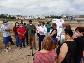 Presentación del parque Alcalde y Delegado Medio Ambiente