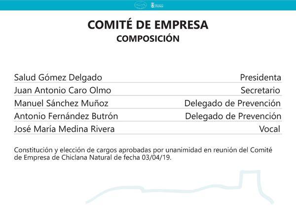 Composición comité de empresa.