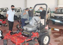 Nueva maquinaria de parques y jardines en Chiclana