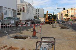 Plantación árboles Avenida Diputación Chiclana